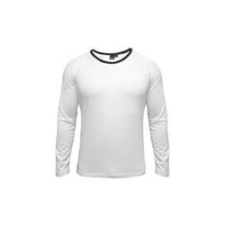Mens Cotton White T Shirt, Size: S-L