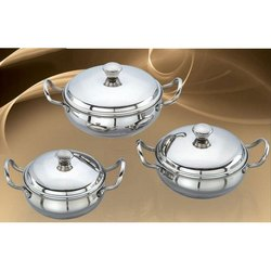 Green Piece Stainless Steel Handi Set
