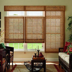 Brown Interior Window Bamboo Blinds, Length: 1.5 to 15 feet