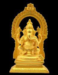 Mantra Ganesha with Arch Matt Gold