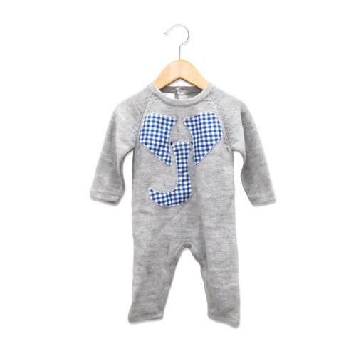 9b6d3e70e184 Grey And Blue   White Cotton Romper Infant Wear