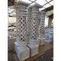 FRP Silver Decorative Pillar