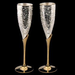 Silver Plated Wine Glass Set