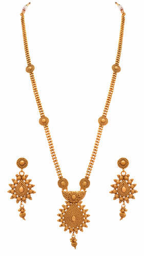 Casual wear and formal wear jfl one gram gold plated long necklace casual wear and formal wear jfl one gram gold plated long necklace set mozeypictures Image collections