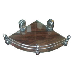 8 And 12 Inches Transparent Corner Glass Shelf
