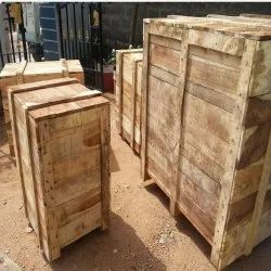 Rectangle Hard Wood Industrial Wooden Packaging Boxes, 5-15 mm, Box Capacity: 201-400 Kg