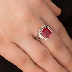 Natural Ruby Ring with Original & Lab Certified Ruby Stone