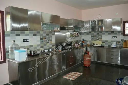Own Stainless Steel Ss Modular Kitchen Cabinet Size Dimension 10x10 Rs 65000 Unit Id 21584062962