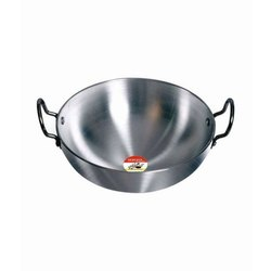 30 Inches Mild Steel Kitchen Kadai, For Hotel/Restaurant, Capacity: 4 L