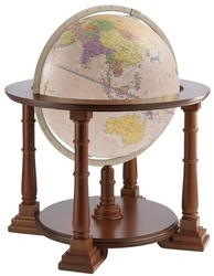 Designer Wooden Stand World Globe