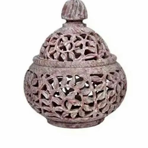 Soapstone Candle Holder, For Home