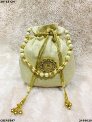 Designer Jute Potli Bag