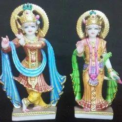 Color Coated Marble Radha Krishna