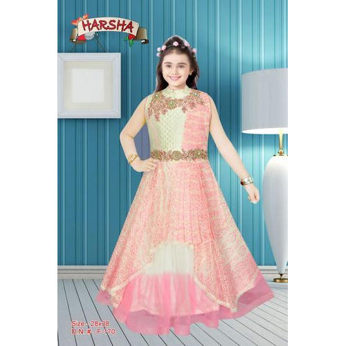 6bcf6f5723 Chanderi Wedding Wear Harsha Kids Gown