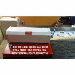 TABLE TOP SPIRAL BINDING MACHINE