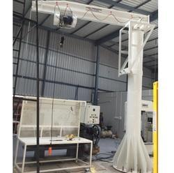 Single Girder Floor Mounted Jib Crane, Capacity: 0-5 ton