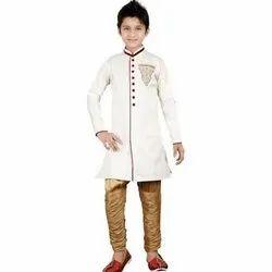 Binnani Party Wear Kids Full Sleeves Sherwani