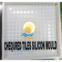 White Chequered Tile Silicone Mould