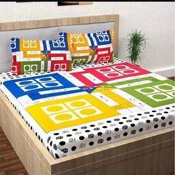 Ludo Print Silk Double Bedsheet