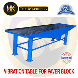 Vibration table for paver block
