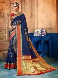 Traditional Art Silk Weaving Saree, 6.3 mtr