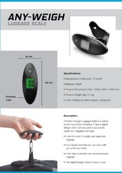 Any - Weigh Luggage Scale