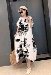 Digital Printed Linen Cotton Kurti