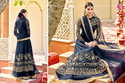 Net Semi Stitched Designer Anarkali Suit