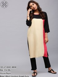Colorblock Straight Kurta