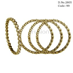Fusion Antique 1 Line Stone Bangles Set