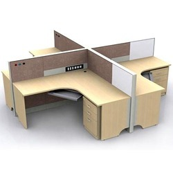Plywood Office Workstation Furniture, Seating Capacity: 4 Seating