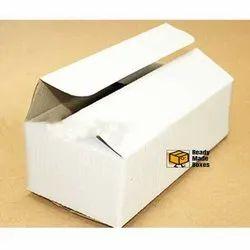 9.5 x 4.75 x 3 Inch White Corrugated Box
