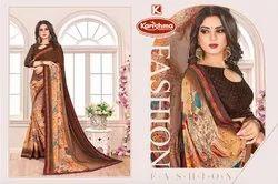 Printed Georgette Saree - Kashish-10