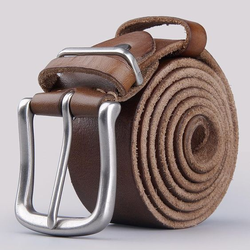 Male Available in Brown,Black B2 Mens Buff Leather Belt, Packaging Type: Roll