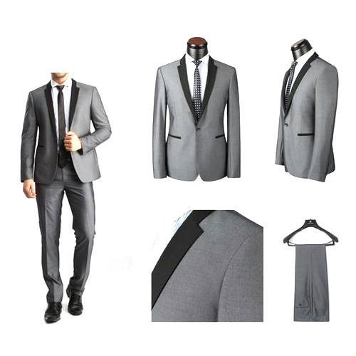 Grey Base Mens'  Wedding Suit