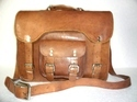 Designer Leather Office Briefcase Bag