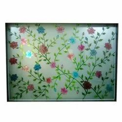 Floral Printed Glass Sheet