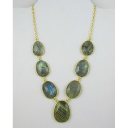Labradorite Bezel Set Necklace