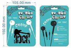 1m PVC Gk 106 Peoples Choice i Phone Shape Handsfree, Box