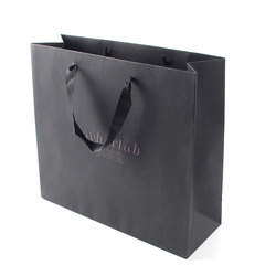 Paper Black Shopping Carry Bag