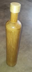 Ethica Round Bamboo Water Bottle, Capacity: 750 Ml, Size: 12''