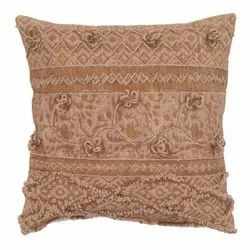 Embroidered Traditional Square Cotton Cushion Cover