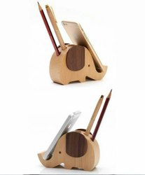 Wooden Elephant Pen & Mobile Stand