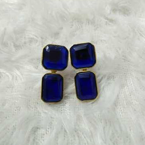 Gold Plated Fine Finished Stone Earrings