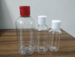 Transparent PET bottles for hand sanitizer with Flip Top Cap