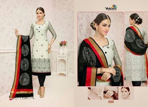 98e1d10cda670 Catalogue Chanderi Silk Materials at Rs 851 /piece | Silk Dress ...