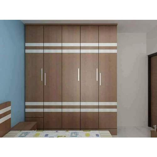 Commercial Ply With Sunmica Finsh 5 Door Designer Wooden Wardrobe
