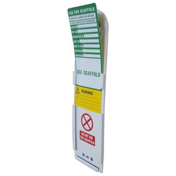 Scaffolding Tag With Holder