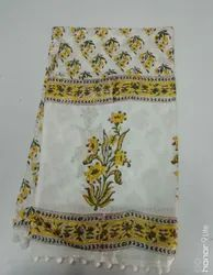 Block Printed Cotton Ladies Stoles