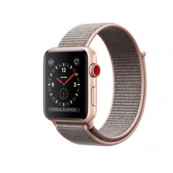outlet store b98b2 5785a Apple Watch Series 3 GPS Plus Cellular, 42mm Gold Aluminum Case